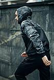 Комплект Nike Windrunner Jacket камуфляж серо-черный +Штаны President черные + Барсетка в подарок, фото 2
