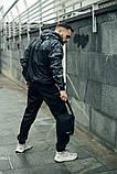 Комплект Nike Windrunner Jacket камуфляж серо-черный +Штаны President черные + Барсетка в подарок, фото 3