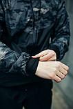 Комплект Nike Windrunner Jacket камуфляж серо-черный +Штаны President черные + Барсетка в подарок, фото 5