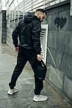 Комплект Чёрный Ветровка Найк (Nike) + Штаны + Барсетка в подарок. Спортивный костюм, фото 7