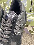 Кроссовки Valentino Rockstud Low Black, фото 4