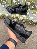 Кроссовки Valentino Rockstud Low Black, фото 9