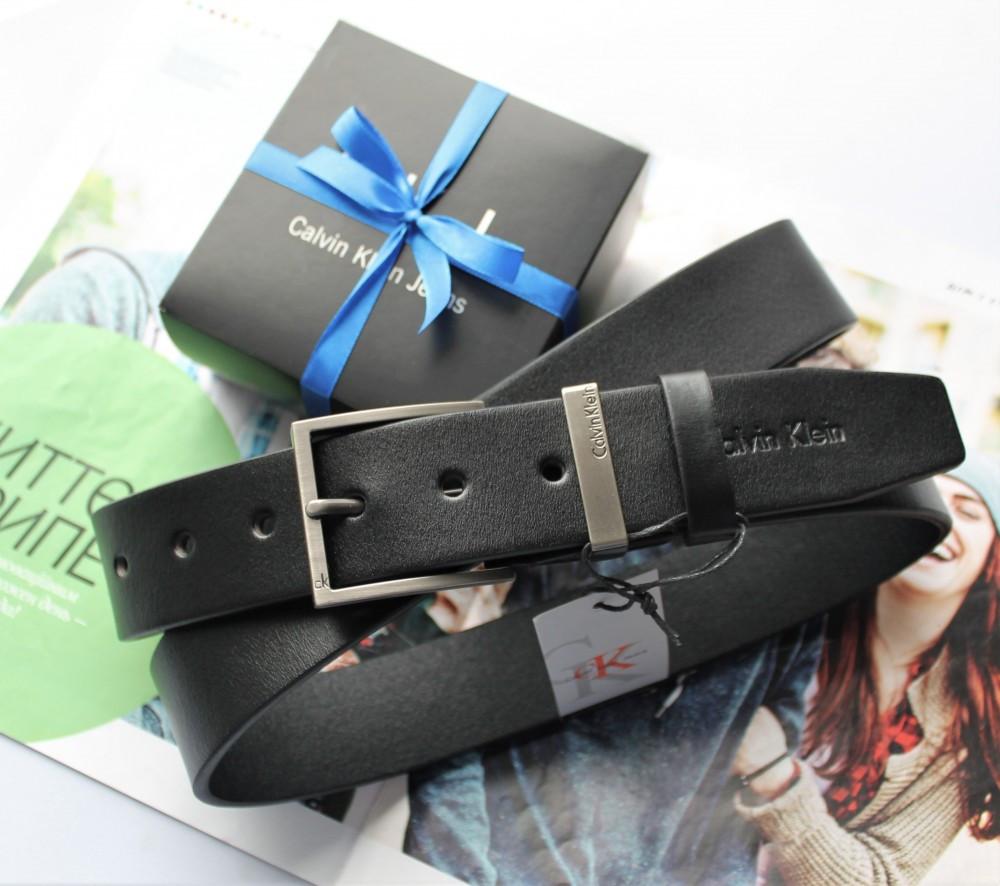 Мужской ремень  Calvin Klein в коробке black