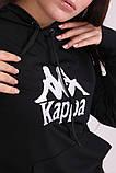 Худі чорний з вишитим логотипом Kappa, фото 3