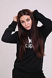 Худі чорний з вишитим логотипом Kappa, фото 7