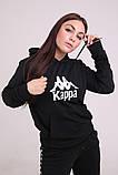 Худі чорний з вишитим логотипом Kappa, фото 8