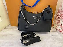 Prada Re-Edition 2005 Nylon Shoulder Bag Black
