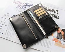 """Чоловічий гаманець з натуральної шкіри """"Nero"""" black"""
