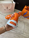 Prada Knit Fabric Sneakers Orange, фото 3