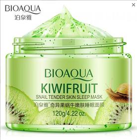 BioAqua Kiwifruit ночная маска с киви и муцином улитки