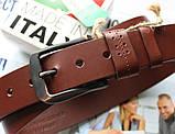 Итальянский кожаный ремень коричневый, фото 3