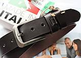 Мужской солидный кожаный ремень Brown, фото 2