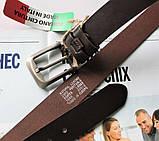 Мужской солидный кожаный ремень Brown, фото 3