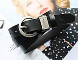 Женский кожаный ремень Calvin Klein черный, фото 4