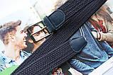 Плетеный ремень резинка унисекс синий, фото 2