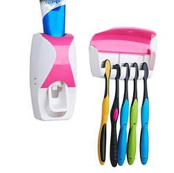Органайзер-дозатор для пасты и зубных щеток Jinxin 300 Розовый