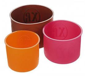 Набор силиконовых пасхальных форм Hauser 3 кулича Ø11, Ø13 и Ø15 Разноцветные