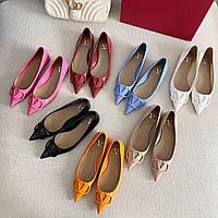 Балетки туфли Valentino кожаные