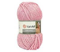 Пряжа для ручного вязания YarnArt Alpine Alpaca (Альпин альпака)толстая 445 розовый