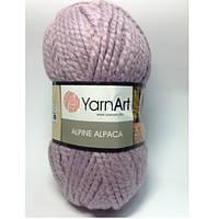 Пряжа для ручного вязания YarnArt Alpine Alpaca (Альпин альпака)толстая 443 Сиреневый