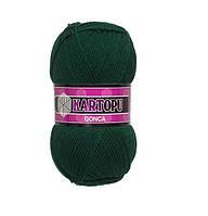 Турецкая пряжа для вязания Kartopu GONCA ( ГОНКА) акрил K1416 темно- зеленый