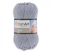 Турецкая пряжа для вязания YarnArt Baby(беби) детский яркий акрил -195 серый