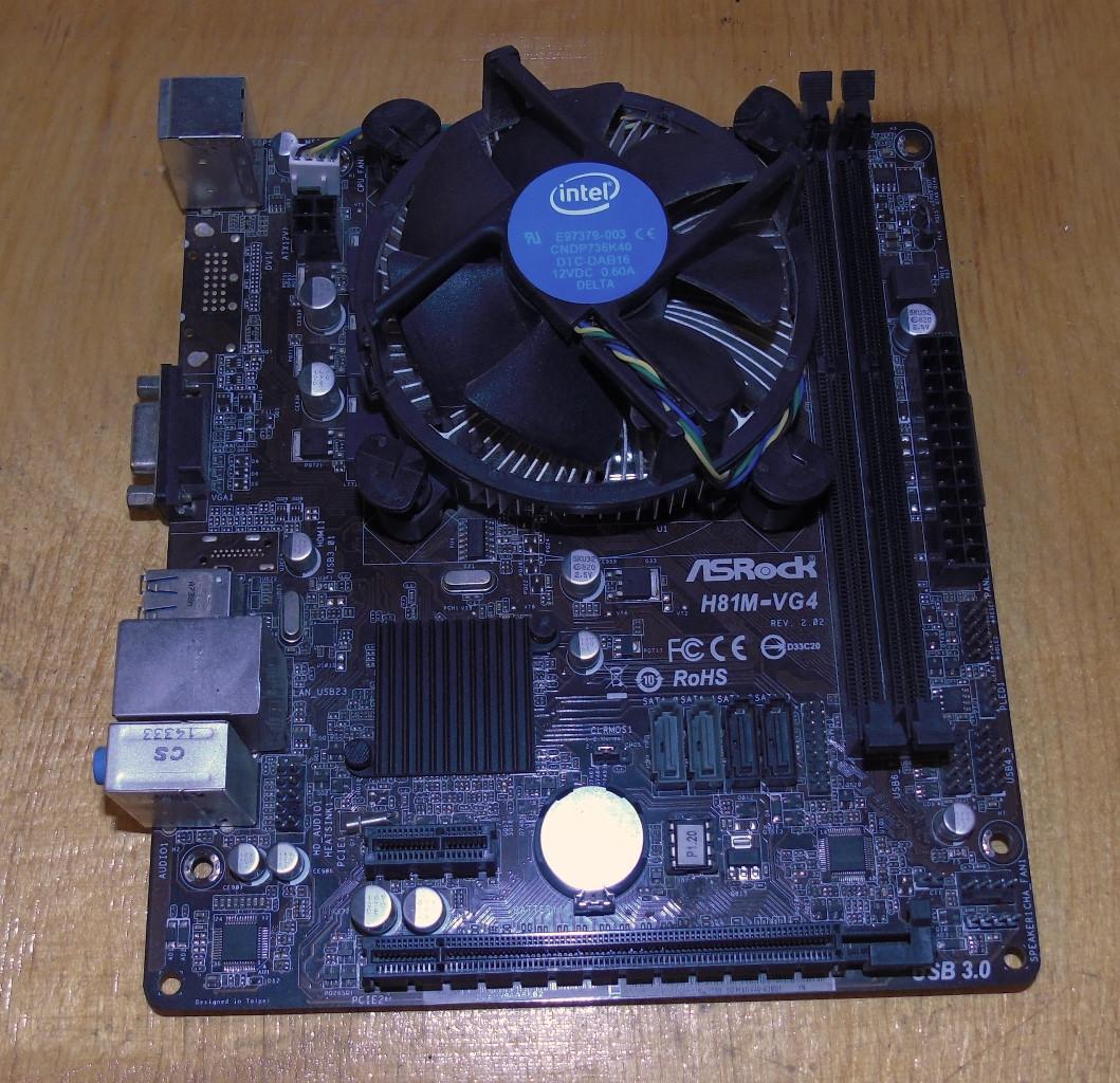 1150 Материнская плата ASRock H81M-VG4 + Процессор Intel Pentium G3220