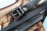 Кожаный женский ремень Calvin Klein черный, фото 2