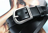 Кожаный женский ремень Calvin Klein черный, фото 3
