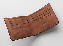 """Чоловічий гаманець з натуральної шкіри """"Incognito"""" світло-коричневий"""