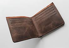 """Чоловічий гаманець з натуральної шкіри """"Importante"""" темно-коричневий"""