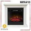 Електрокамін з порталом MARTA AF-23 ArtiFlame білий ваніль, камінокомплект з обігрівом, діагональ 59 см, фото 4