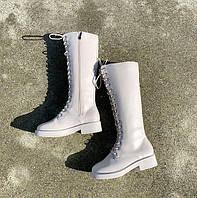 Женские зимние кожаные сапоги. Модель 34742, фото 4