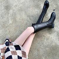 Женские зимние кожаные сапоги. Модель 34742, фото 2