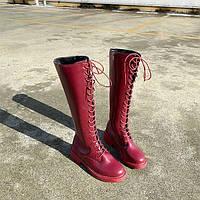 Женские зимние кожаные сапоги. Модель 34742, фото 7