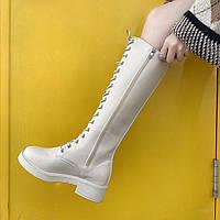 Женские зимние кожаные сапоги. Модель 34742, фото 5