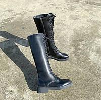 Женские зимние кожаные сапоги. Модель 34742, фото 3