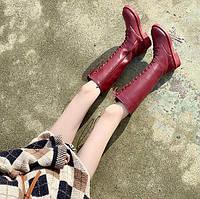 Женские зимние кожаные сапоги. Модель 34742, фото 6