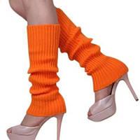 Гетры женские спортивные оранжевые