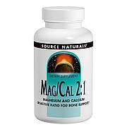 Магний Кальций 2:1, 370 мг, Source Naturals, 90 капсул