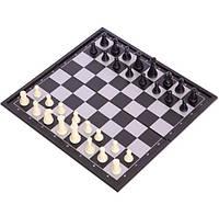 Шахи, шашки, нарди 3 в 1 дорожні пластикові магнітні SC56810 (р-р дошки 25см x 25см), фото 1