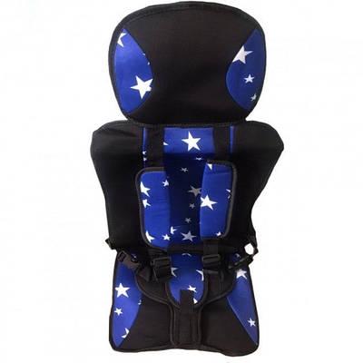Детское бескаркасное автокресло Multi-function car cushion до 12 лет Синее с белым 184383