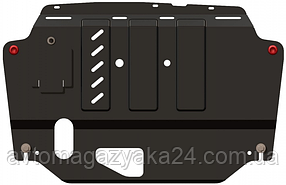 Защита двигателя Citroen С1 2014- V-1,0  робот двигун, КПП, абсорбер (Кольчуга)