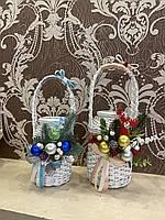Плетёные декорованые банки на воду 1л, 1.5л, 2л, фото 1