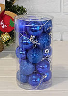 Синие шарики на елку  20штук 4см, фото 1