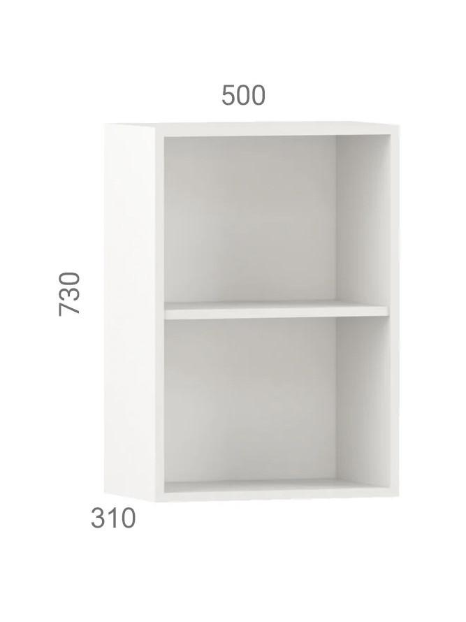 Кухонний шафа навісний (модуль) з відкритими полицями (50х31х73 см)