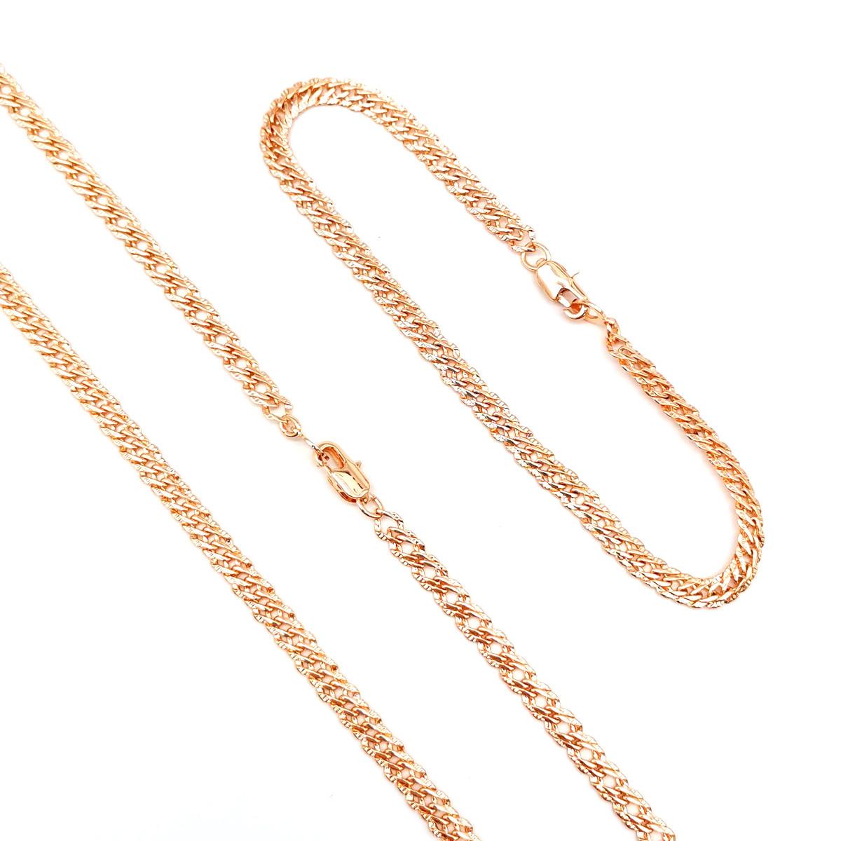 """Набор """"Двойной ромб"""" SONATA из медицинского золота, позолота РО, 73884       (1)"""