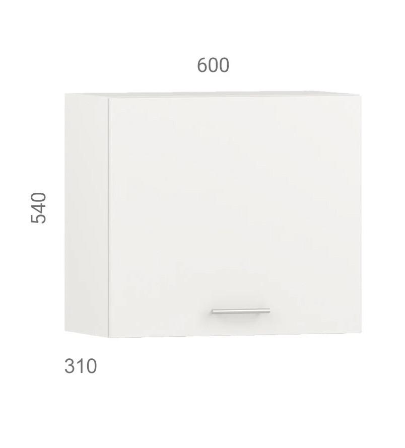 Кухонний шафа навісний (модуль) для вбудованої витяжки з фасадом з пластику на основі МДФ (60х31х54 см)