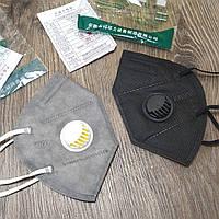 Защитная маска для лица респиратор KN95 (КН95) с клапаном, фильтр-маска FFP2, FFP3. Купить