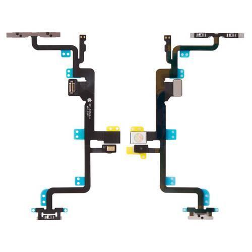 Шлейф для iPhone 7 Plus, кнопок звуку, кнопки ввімкнення, бокових клавіш, з компонентами